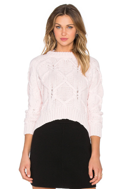 sweater white pink