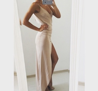dress nude nude dress v neck long evening nude dress bodycon deep v neck dress evening dress