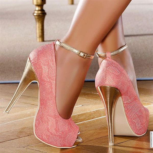 shoes pink pink high heels cute