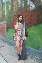 orchid grey,blogger,bag,jewels,dress,shoes,sweater