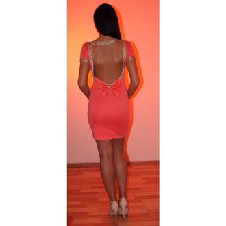 dress coral dress golden