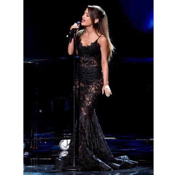 lace dress ariana grande dress gown ama prom dress
