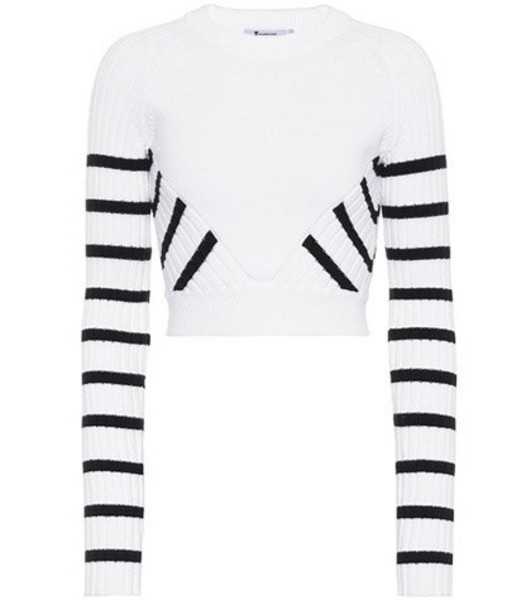 T by Alexander Wang Cropped sweater in white