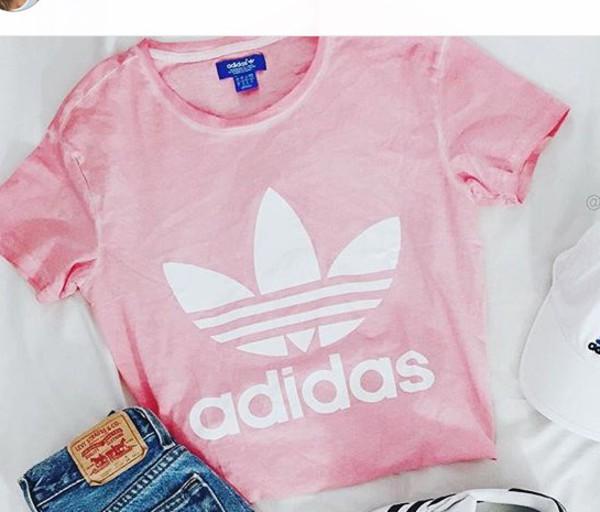 Unisex Customised Adidas Acid Wash Tie Dye Cropped T Shirt