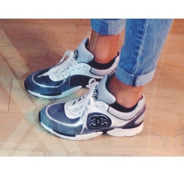 Chanel Sneakers Grey Shoes Chanel Sneakers Sports