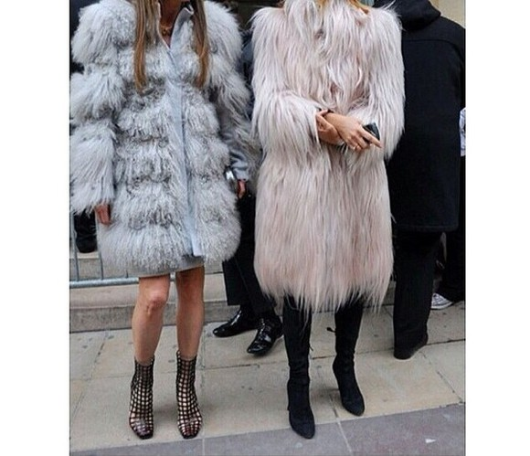 faux fur coat fur fur coat faux fur coat winter outfits grey pink winter coat luxury luxurious