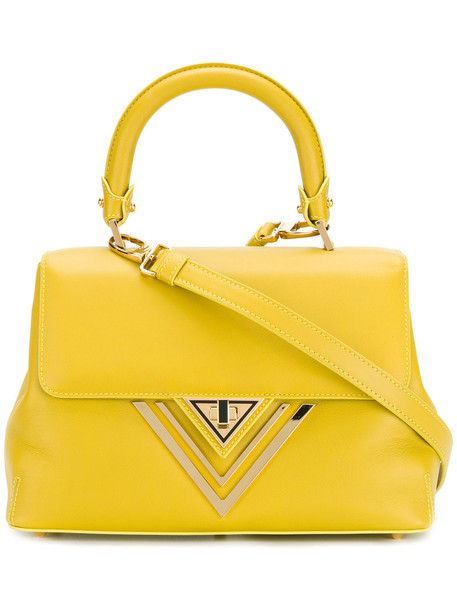 Giaquinto - fold over tote bag - women - Leather - One Size, Yellow/Orange, Leather
