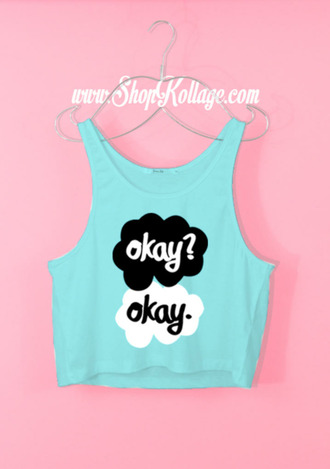 blouse the fault in our stars blue tank top
