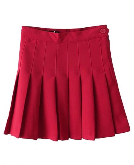 pleated high rise tennis skirt blackfive