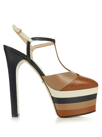 angel sandals platform sandals leather tan shoes