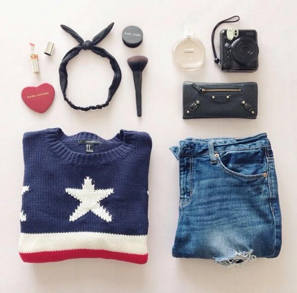 sweater american flag