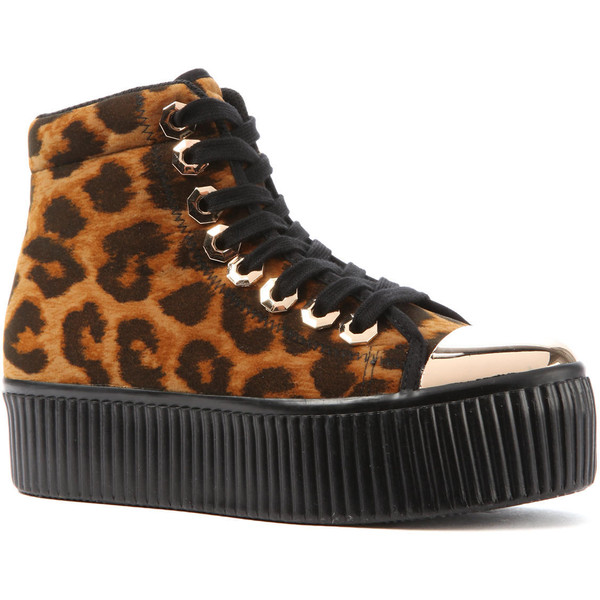 Jeffrey Campbell The HIYA Nuts Sneaker in Leopard and Black - Polyvore