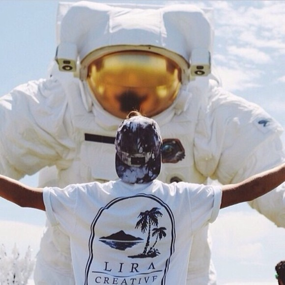 music festivals shirt festival music festival hipster white white tees t-shirt rolled up sleeves rolled sleeves coachella palm trees astronaut instagram