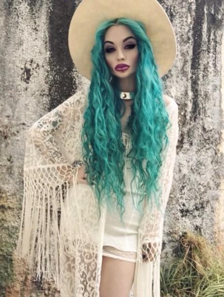 cardigan sheer fringes cream dress