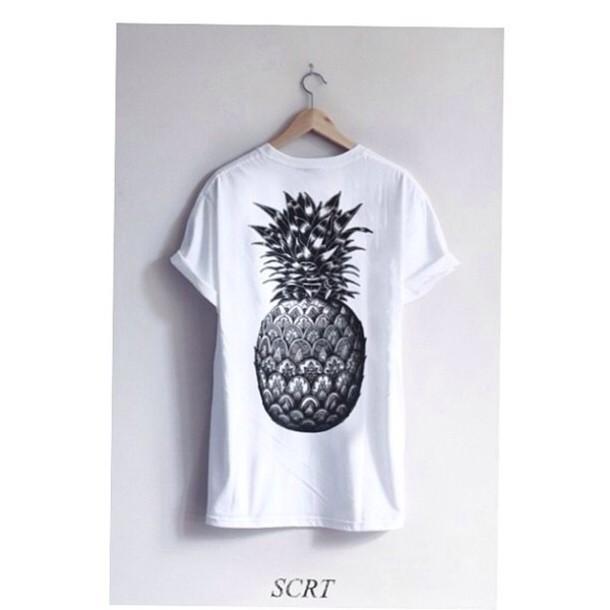 Pineapple Clothes Tumblr Shirt Pineapple Cute Tumblr