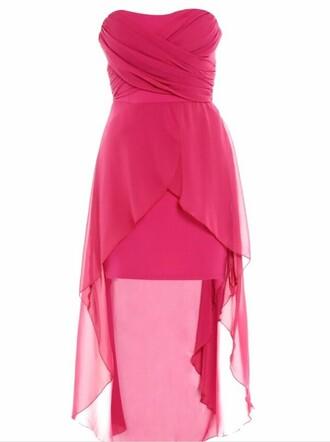 dress cheap dress on sale homecoming dress bridesmaid a-line strapless dress chiffon high-low dress