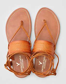 AEO Ankle Tie Sandal , Tan