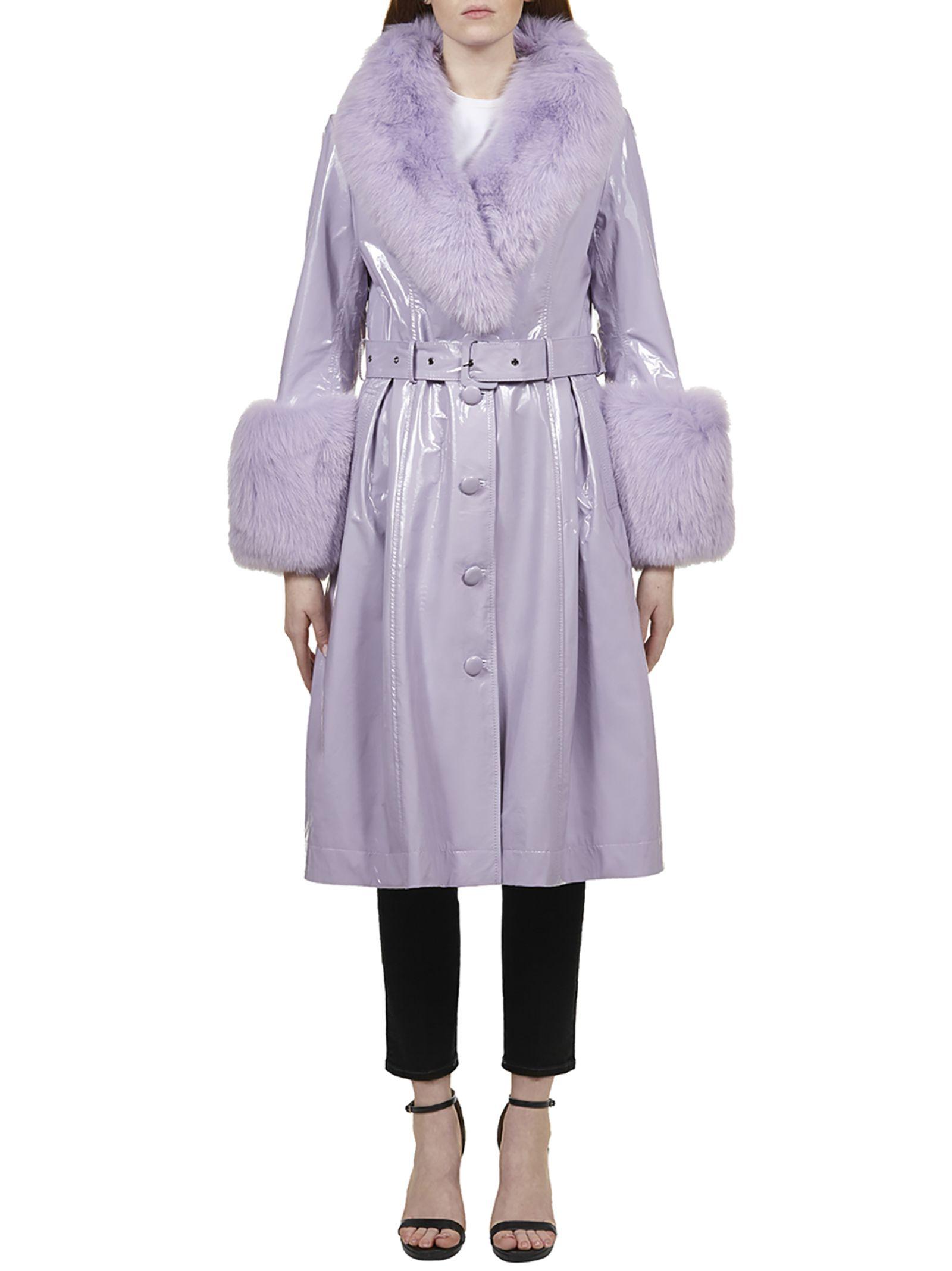 Best price on the market at italist | Saks Potts Saks Potts Fur Trim Coat