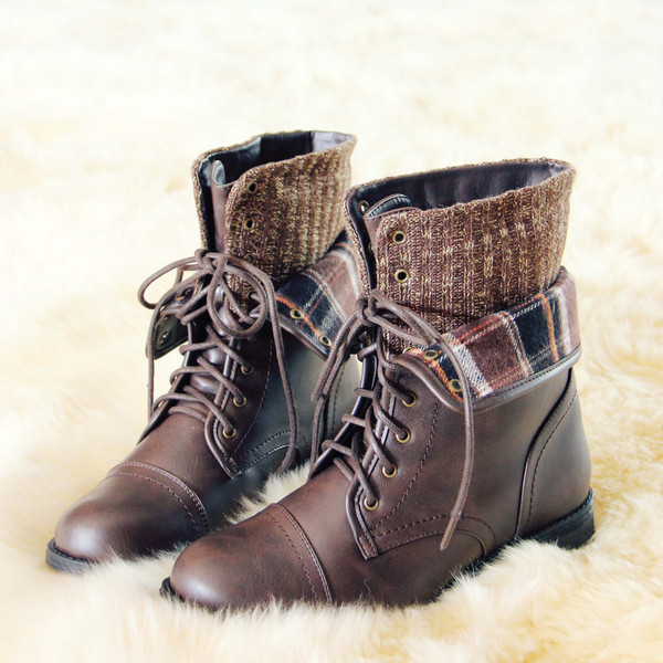 North lodge sweater boots in brown