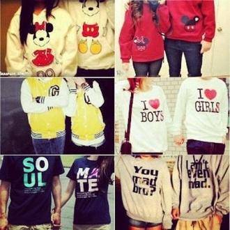 couple sweaters cute
