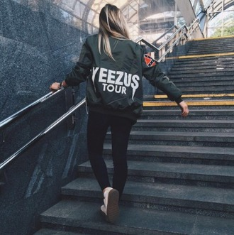 jacket girl girly wishlist bomber jacket olive green yeezy yeezus dope kanye west dope wishlist