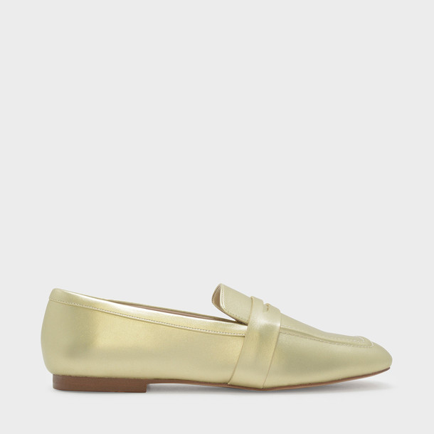 loafers gold shoes