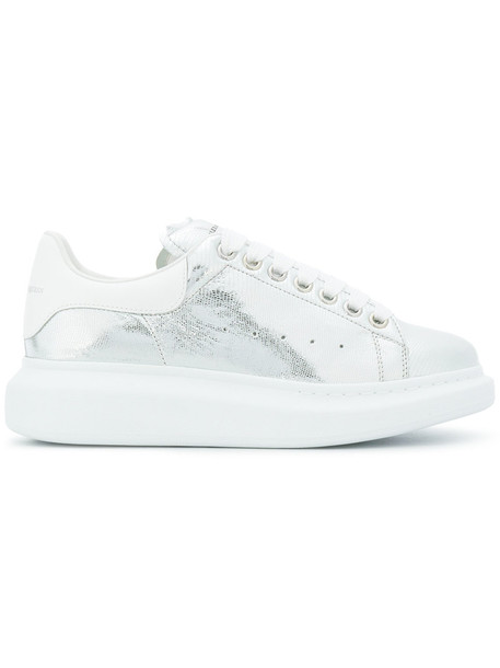 Alexander Mcqueen oversized women sneakers leather grey shoes