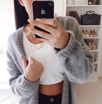 jacket grey sweater grey jacket top