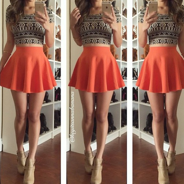 Shirt cute love pretty crop tops tumblr outfit skater skirt instagram style fashion t ...