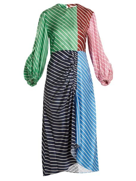 Tibi dress silk dress silk navy