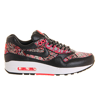 Nike air max 1 (l) black solar red liberty qs