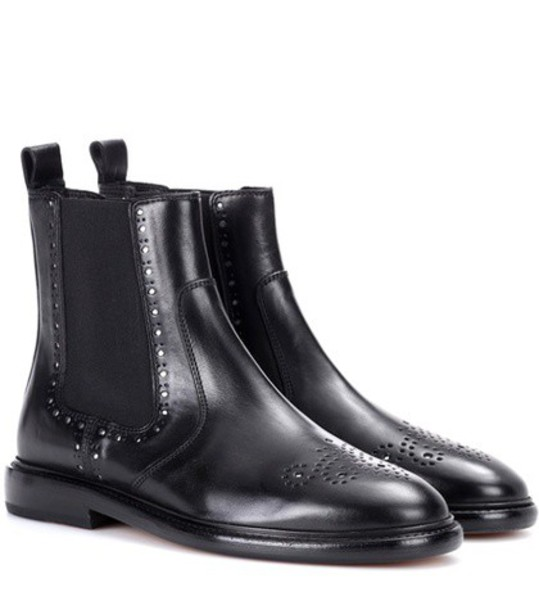 Isabel Marant chelsea boots leather black shoes