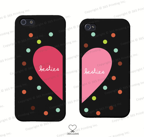 phone cover polka dots matching phone cases matching phone covers besties besties phone accessories bff bff bff bff phone accessories phone covers for best friends bff bff iphone 4 case iphone 5 case galaxy s5 cases galaxys 4 cases