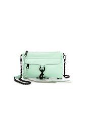 bag,expensive bag,rebecca minkoff,mini mac,designer,designer bag,mint bag,crossbody bag,crossbody leather bag