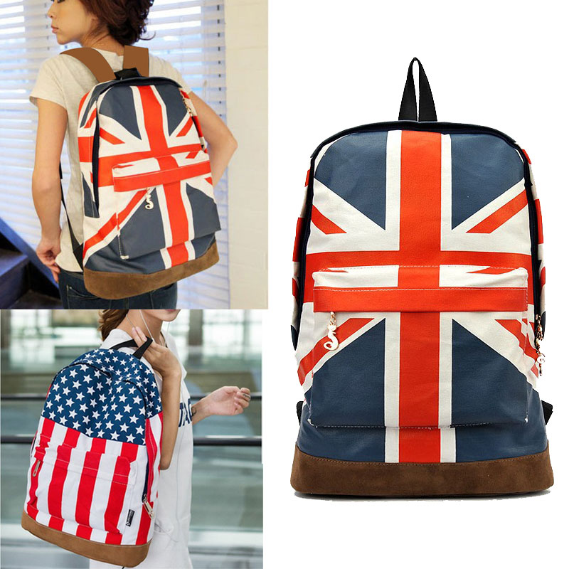 American Flag Backpack US Flag LARGE Canvas Bag Canvas Backpack