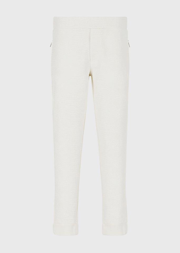 Coconut-print fleece jogging trousers
