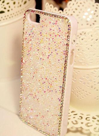 phone cover cover rhinestone rhinestones white