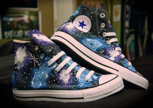 shoes galaxy print converse sneakers converse