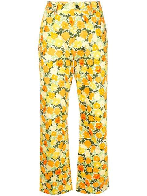 Simon Miller Floral straight-leg Jeans - Farfetch