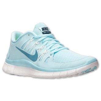 shoes nike light blue nike free run 5.0