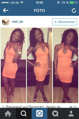 dress orange dress strapless dresses