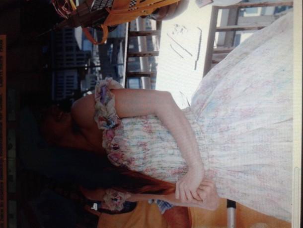 dress floral dress pink
