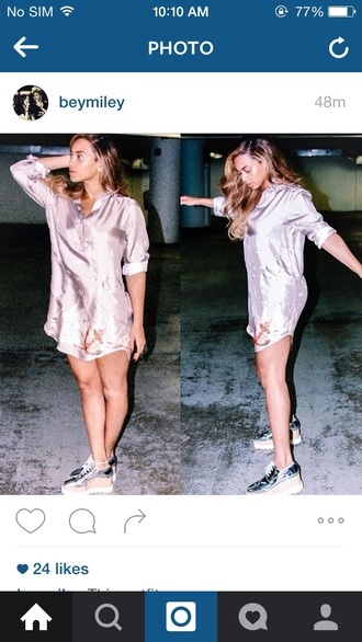 blouse shirt silk pajamas beyonce shiny dress flowers beyonce fashion button up polyester long sleeves night dress lavender