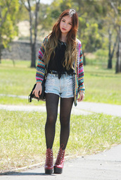 chloe ting,t-shirt,sweater,bag,shorts,jewels,shoes