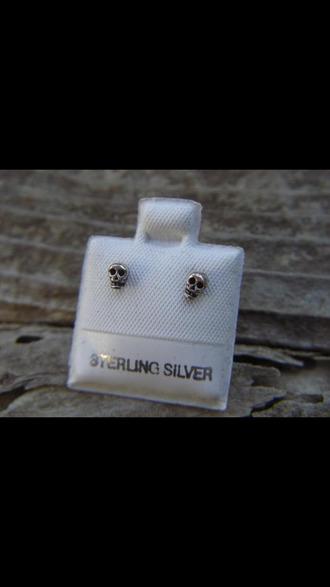 jewels skull earrings
