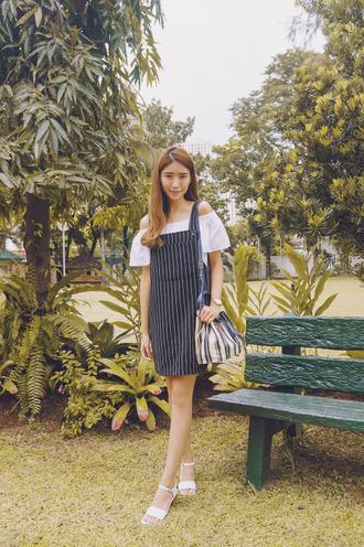 tricia gosingtian blogger striped bag