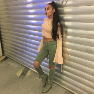 blouse leigh-anne pinnock top jeans little mix crop tops
