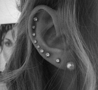 jewels studs ear piercings
