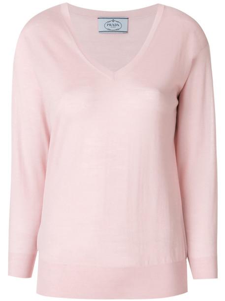 Prada sweater women wool purple pink