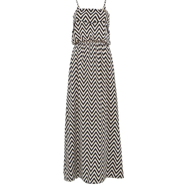 Black and White Zig Zag Maxi Dress - Polyvore